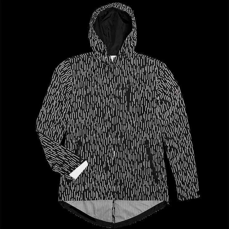 """Rain"" Windbreaker Packable Jacket – ICNY Sport | Camouflage pattern in 3M reflective material"