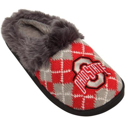 Ohio State Ladies Argyle Slippers