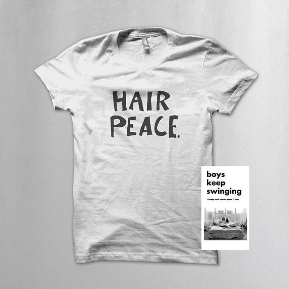Hey, I found this really awesome Etsy listing at https://www.etsy.com/listing/548866937/john-lennonyoko-ono-hair-peace-slogan-t
