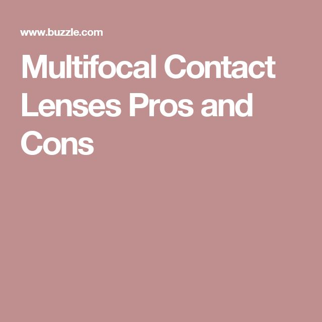 Multifocal Contact Lenses Pros and Cons