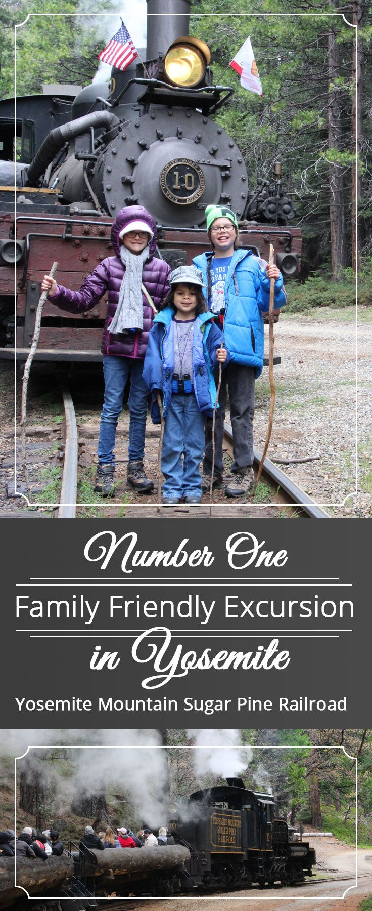 ad - Yosemite Mountain sugar pine railroad  Family friendly excursion for young families in Yosemite National Forest.  Authentic Steam Engine tour of the world famous national park.  Add to your family travel plans!