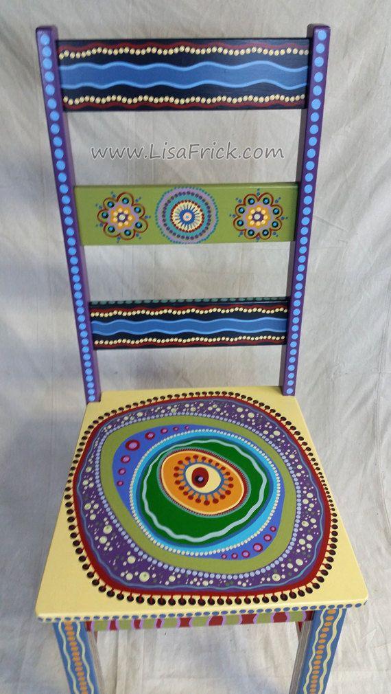 VENDEN muestras de trabajo personalizado pintado lado sillas por encargo