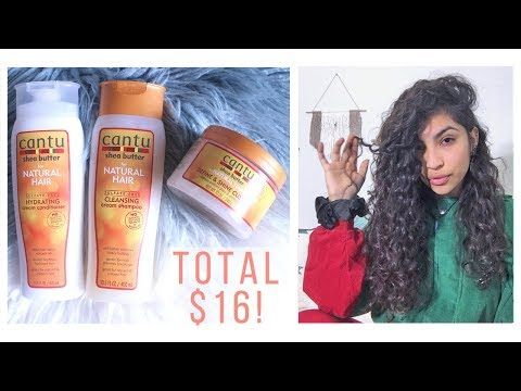 Cantu Review // $16 Curly Hair Routine - YouTube