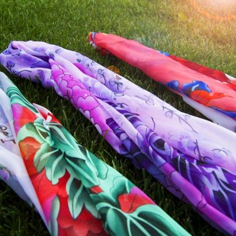 Beautiful Summer Scarves that are light, breezy and soft to the touch! Three gorgeous variations.
