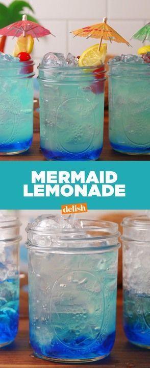 When life's a beach, make Mermaid Lemonade. Get this summer beverage recipe at Delish.com.