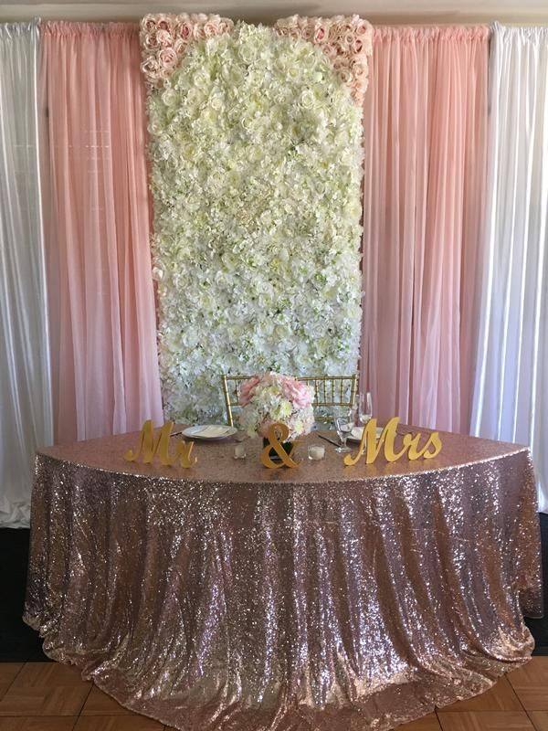 chair covers rose gold computer lounge pipe and drape flower walls linen rentals in orange county