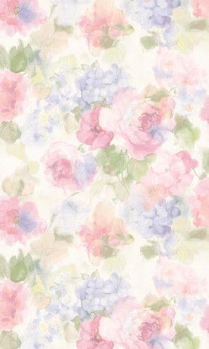 插画手绘 手机壁纸 水粉画 水彩 玫瑰 碎花 - 堆糖 发现生活_收集美好_分享图片