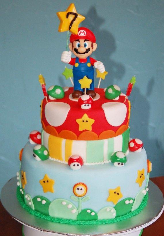 Les plus beaux gâteaux geeks - Mario