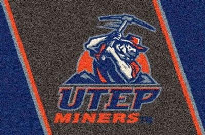 Utep Miners Team Logo Area Rug Ncaa Area Rugs Pinterest