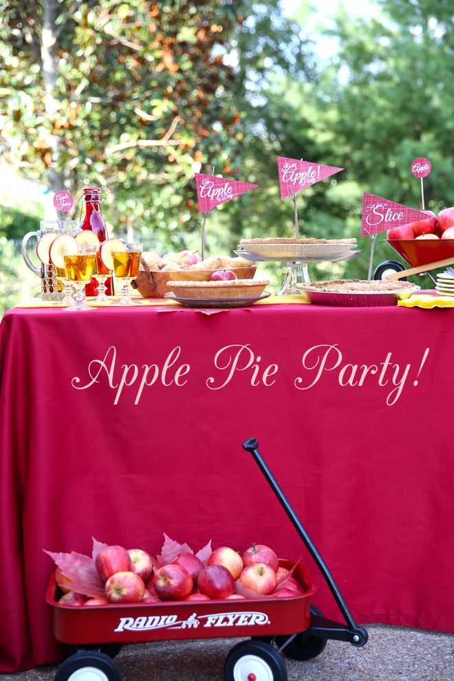 Host an Apple Themed Dessert Party! Free printables included! #apple #party #shop