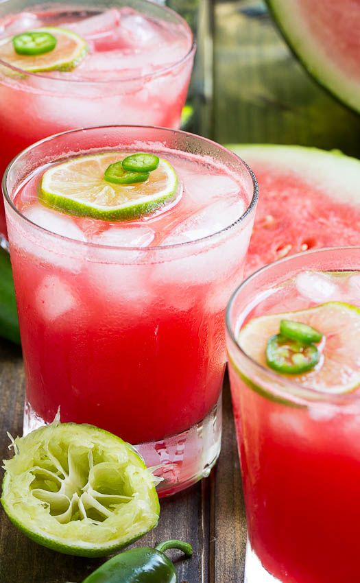 Jalapeno Watermelon Margarita- a spicy, sweet, and salty drink!