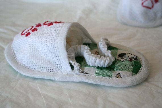 Ciabattine da Bagno Orme Cane Dalmata Baby di FiloAgoFantasia