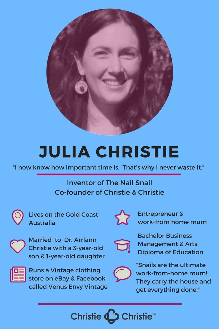 Julia Christie Infographic inspiringmompreneurs