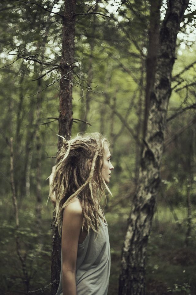 Dreads in woods