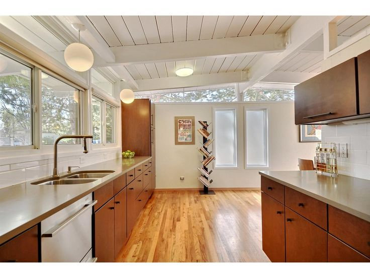 vaulted ceiling mid century modern - Google Search