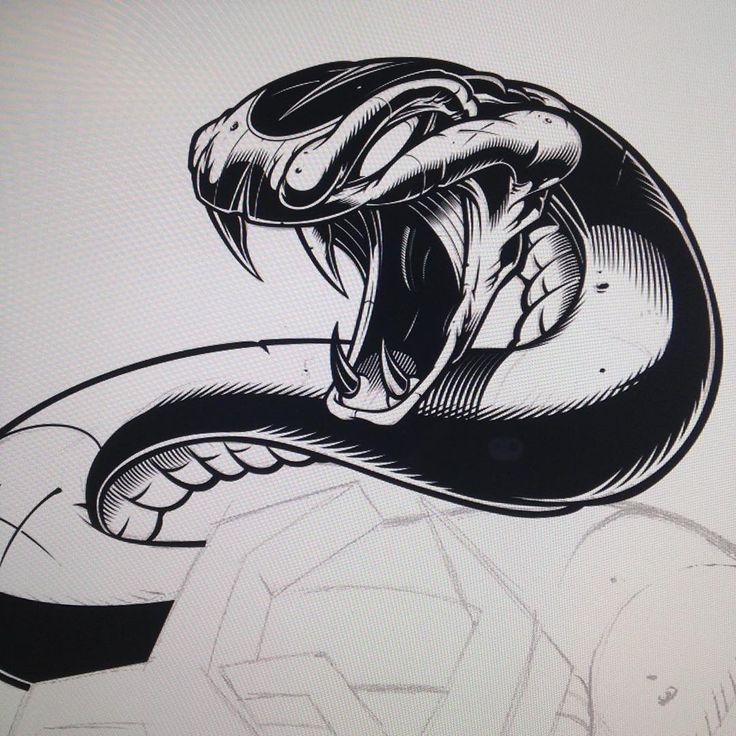 Serpentes details WIP. #snake #vector #illustration #adobeillustrator #sweyda