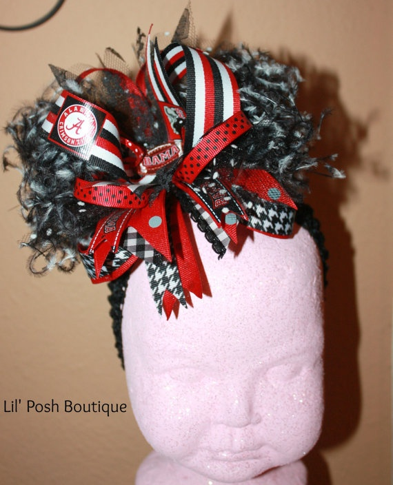 Over The Top Large Alabama Bow by lilposhboutique on Etsy, $19.50