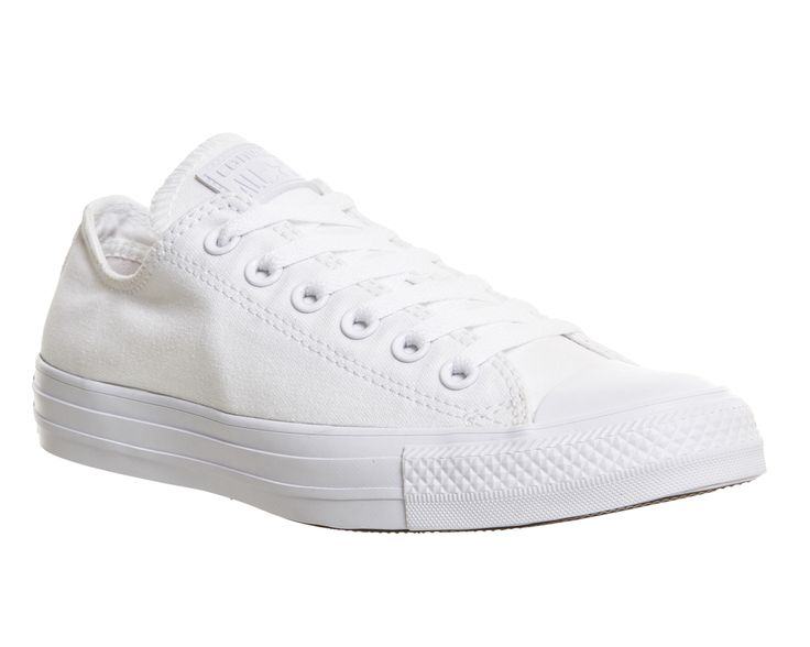 Converse All Star Low White Mono Canvas