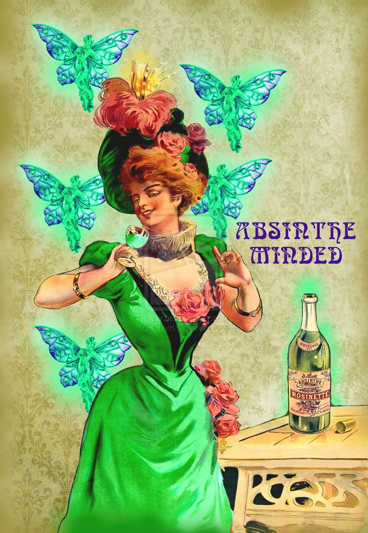 Absinthe Minded by artvixn | Vintage Labels and Posters ...