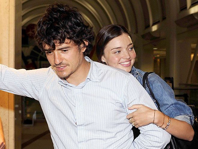 "Only a month after revealing their engagement, Orlando Bloom and Miranda Kerr secretly wed in an intimate ceremony in July. ""They truly are a gorgeous couple, are very much in love and bring out the best in each other,"" the bride's mom, Therese Kerr"