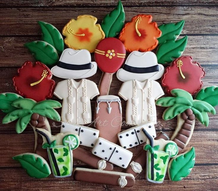 Havana nights cookies by SweetArt Cookie Co