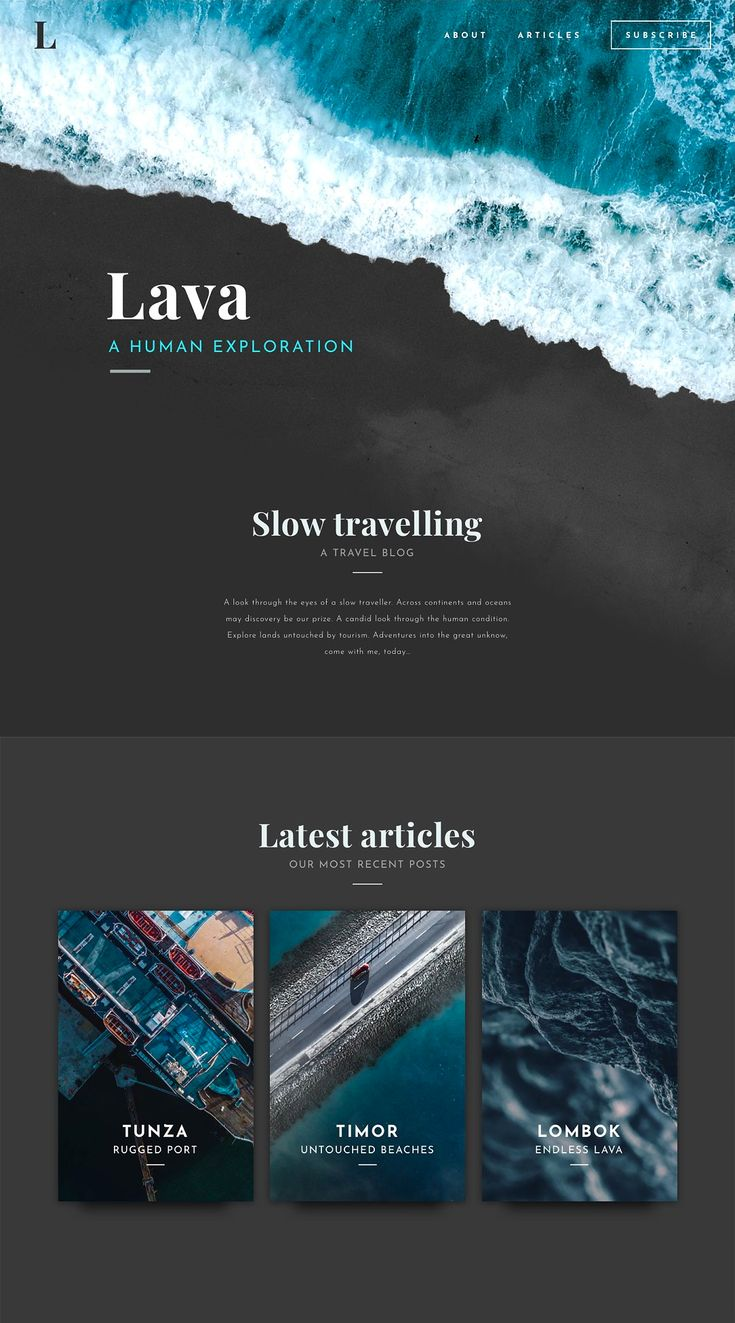 Looking to upgrade your web design game?  Lava is a responsive template – with a…