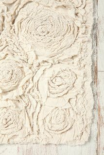 Bed Of Roses Bath Mat, Ivory - eclectic - bath mats - by Urban Outfitters