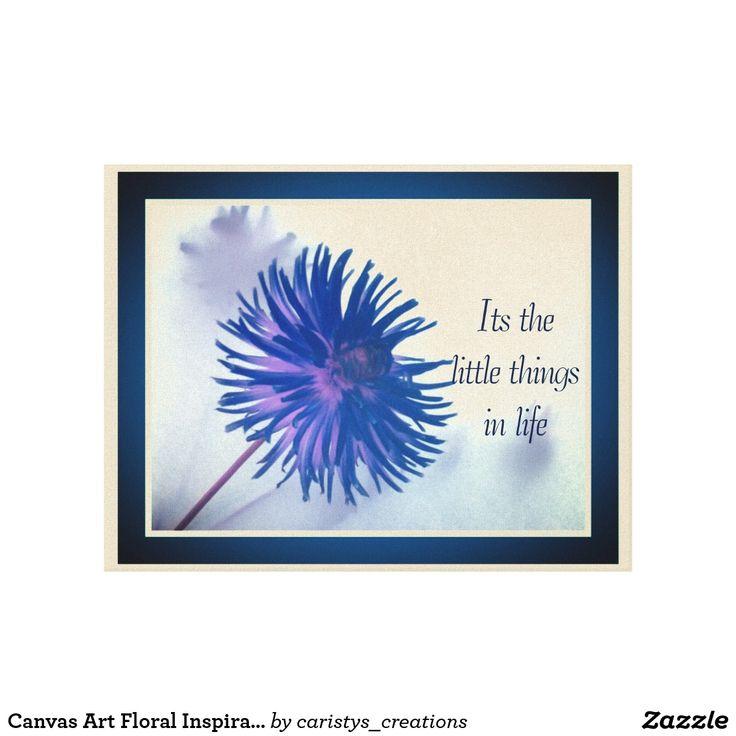 Canvas Art Floral Inspirational