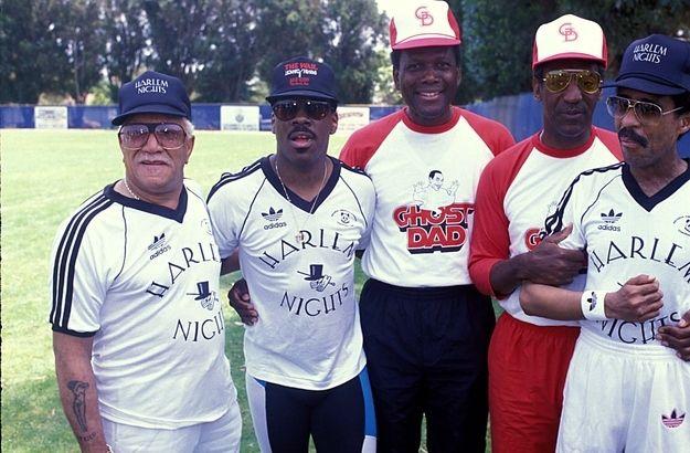 Redd Foxx, Eddie Murphy, Sidney Poitier, Bill Cosby, and Richard Pryor (My new favorite picture)