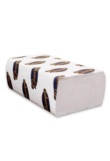 Papier Classique essuie-mains à plis multiples blanc