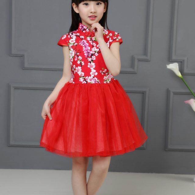 Traditional Chinese Ball Gown Cheongsam for Kids  56cb737f88d4