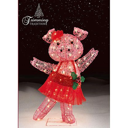 Trimming Traditions Outdoor Christmas Icy Dancing Pig