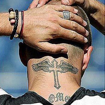 Neck Tattoo for Men - Cross Tattoo Design Ideas