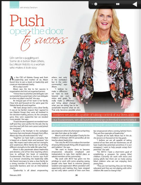 GET IT MAGAZINE  Life can be a juggling act. Some do it better than others, but Alison Vidotto is a woman who makes it look easy.
