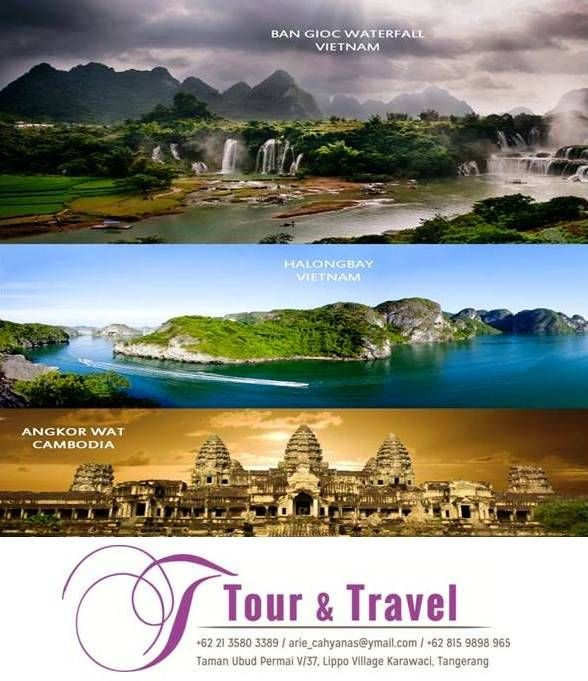 23 September to 5 October 2014 in Northern Vietnam & Cambodian :  + Flight by Vietnam Airlines, + Stay in 4 Star Hotel (Grand,Bang Giang, Chau Long), + Start USD 1.679 ** / pax all in.  For futher information, please do not hesitate to contact : Arie Cahyana  J TourTravel E : arie_cahyanas@ymail.com P: +628159898965 / +622135803389