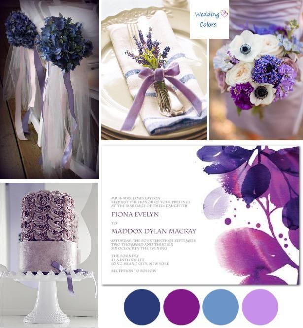 Purple and Blue Wedding Color Palette