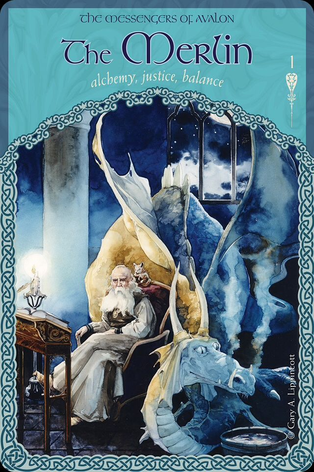"Daily Angel Oracle Card: The Merlin, from the Wisdom Of Avalon Oracle Card deck, by Colette Baron-Reid The Merlin: ""Alchemy ~ Justice ~ Balance"" The Messengers Of Avalon ""The Merlin is the messenge..."