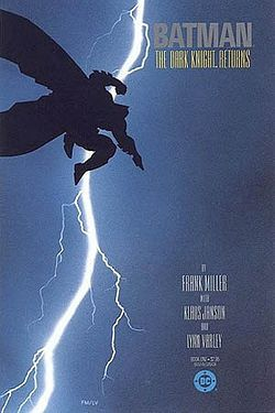 This is not the movie that inspired Heath Ledger to death (or the movie that inspired the Colorado Cinema Shooter to make death): Bruce Wayne gave up being Batman after Robin's death, but comes out of retirement when a super-street gang is too tough for mere cops. This comic HAS inspired Tim Burton when filming his Bat-movies.