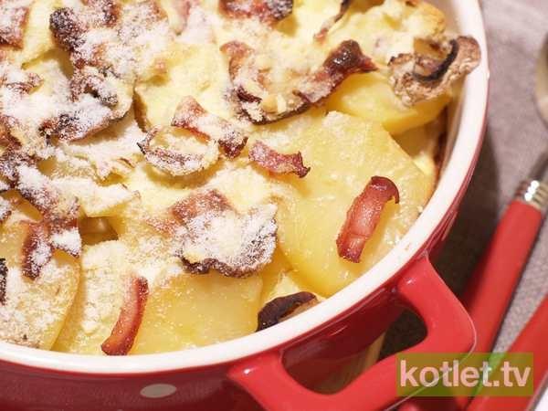 Zapiekanka z ziemniakami i pieczarkami