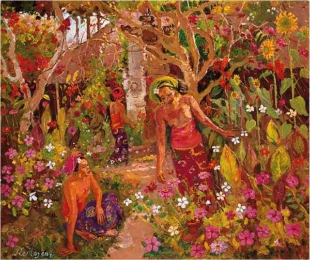 Adrien Jean Le Mayeur De Merprés - Women in the Garden sold by Christie's for USD 407,733.