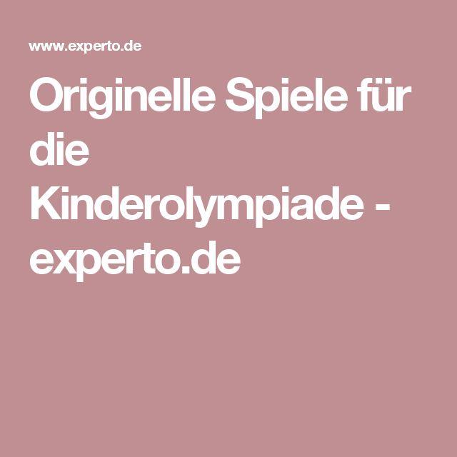 Originelle Spiele für die Kinderolympiade - experto.de