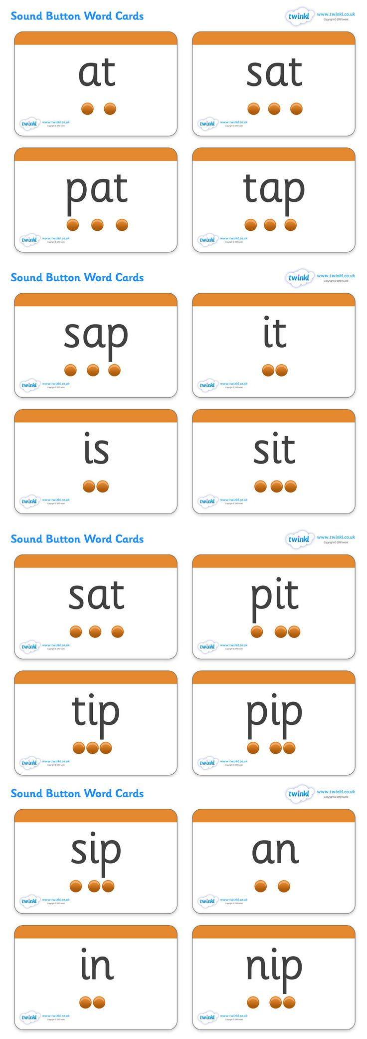 Phase 2 Sounds Button Word Cards - Pop over to our site at www.twinkl.co.uk and check out our lovely Letters and Sounds primary teaching resources! letters and sounds, phase 2, button cards, word cards, flash cards, phonics #twinkl #resources