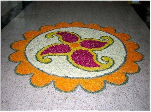 small flower Rangoli Designs