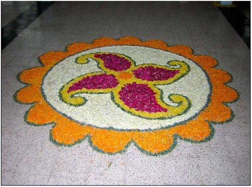 small flower Rangoli Designs