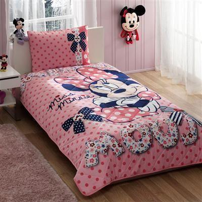 Taç Disney Minnie Mouse Dream Tek Kişilik Yatak Örtüsü | cazip geldi