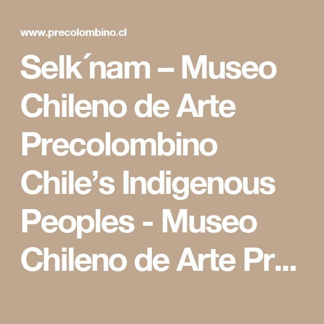Selk´nam – Museo Chileno de Arte Precolombino Chile's Indigenous Peoples - Museo Chileno de Arte Precolombino