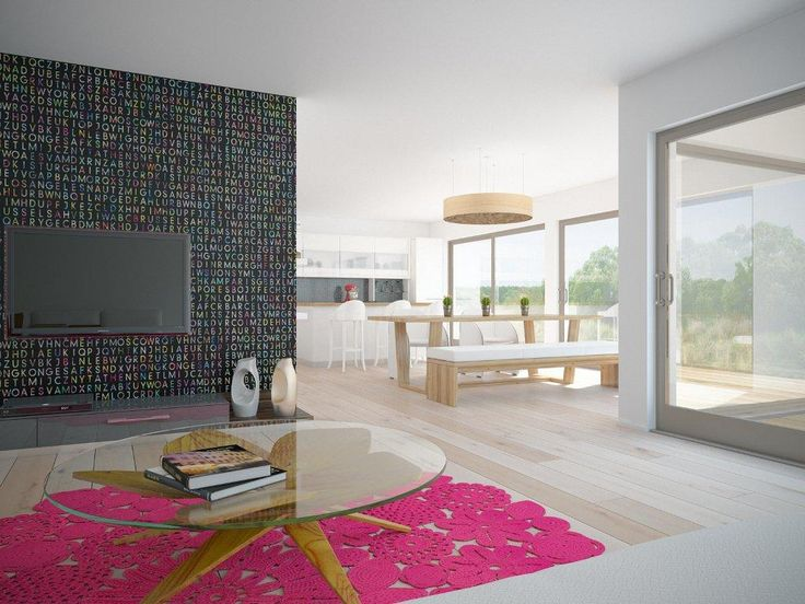 Modern House Design With Three Bedrooms And Open Plan. Modern House Plan To  Modern Family.