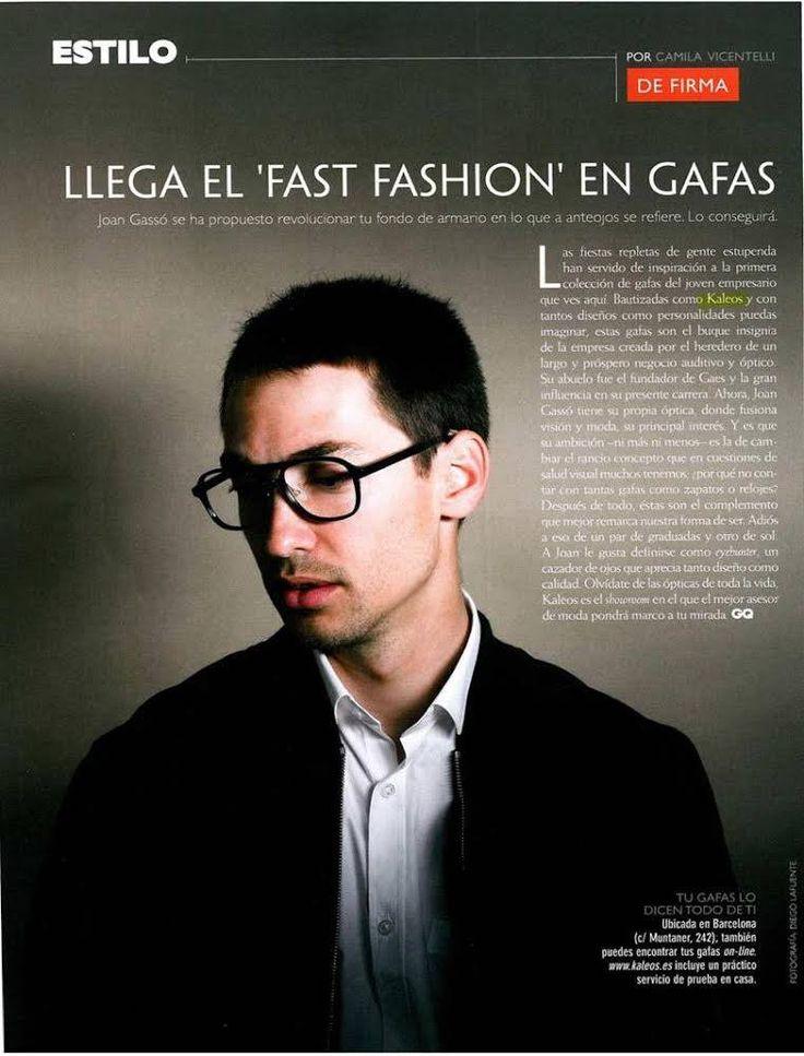 Nuestro boss, Joan Gassó, presumiendo de KALEOS en el último @gqspain. Sus favoritas, las Thomas, un modelo elegante y atemporal.  #Kaleos #sunglasses #shades #sunnies #glasses #look #gafas #gafasdesol #fashion #moda #complementos #accessories