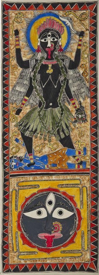 Goddess Kali and with Mandala