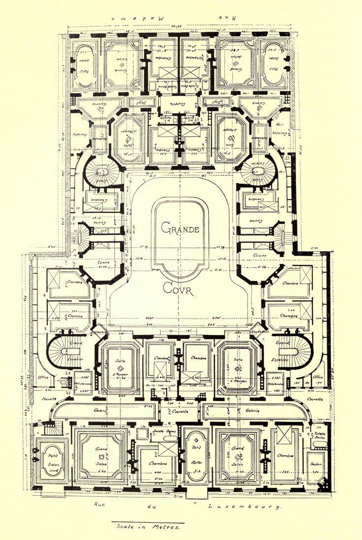 Floor plan of an apartment building on Rue du Luxembourg, Paris